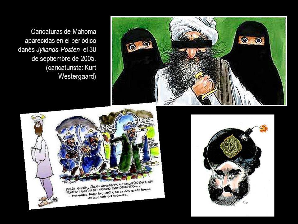 Caricaturas de Mahoma aparecidas en el periódico danés Jyllands-Posten el 30 de septiembre de 2005.