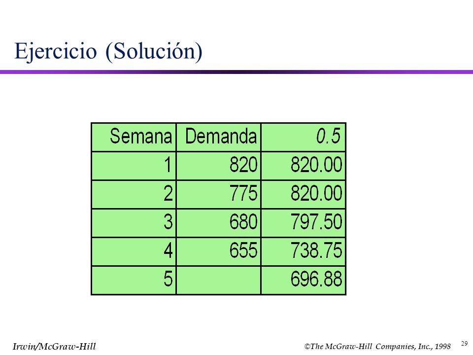 Ejercicio (Solución) 29 29