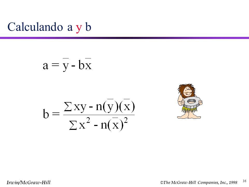 Calculando a y b 36 36