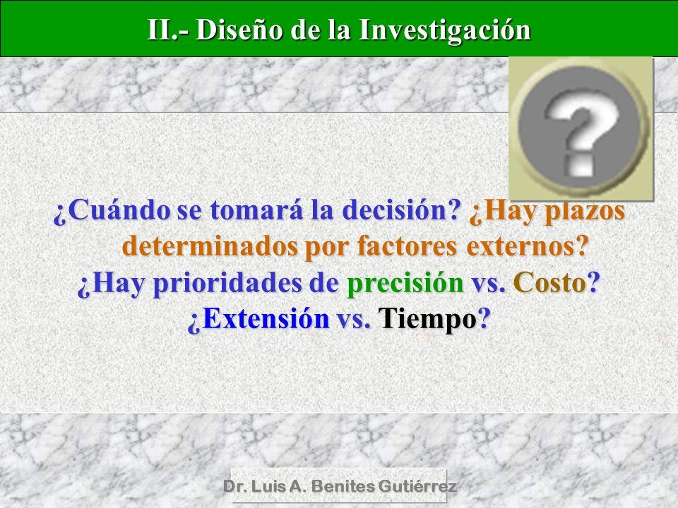 II.- Diseño de la Investigación