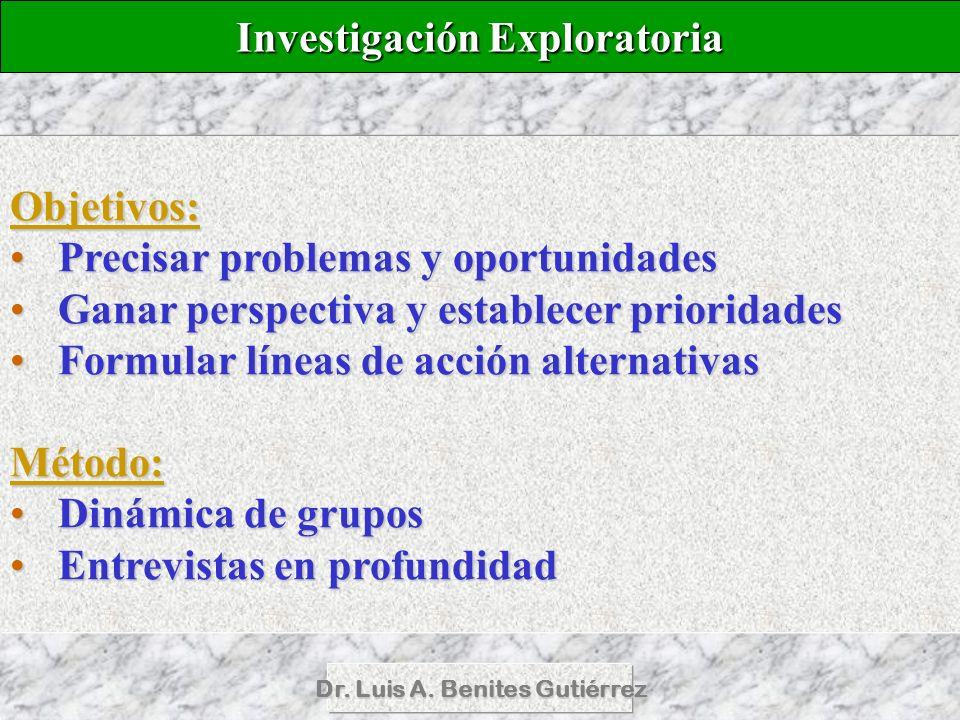 Investigación Exploratoria Dr. Luis A. Benites Gutiérrez