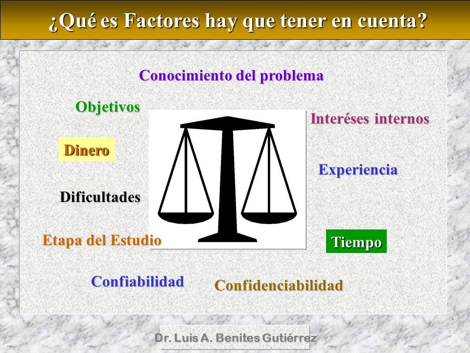 ¿Qué es Factores hay que tener en cuenta