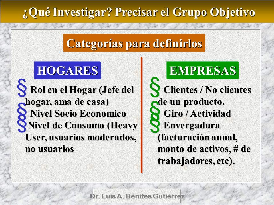 ¿Qué Investigar Precisar el Grupo Objetivo