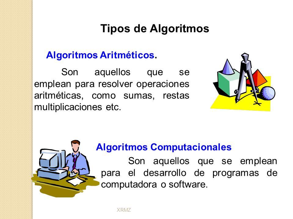 Algoritmos Aritméticos. Algoritmos Computacionales