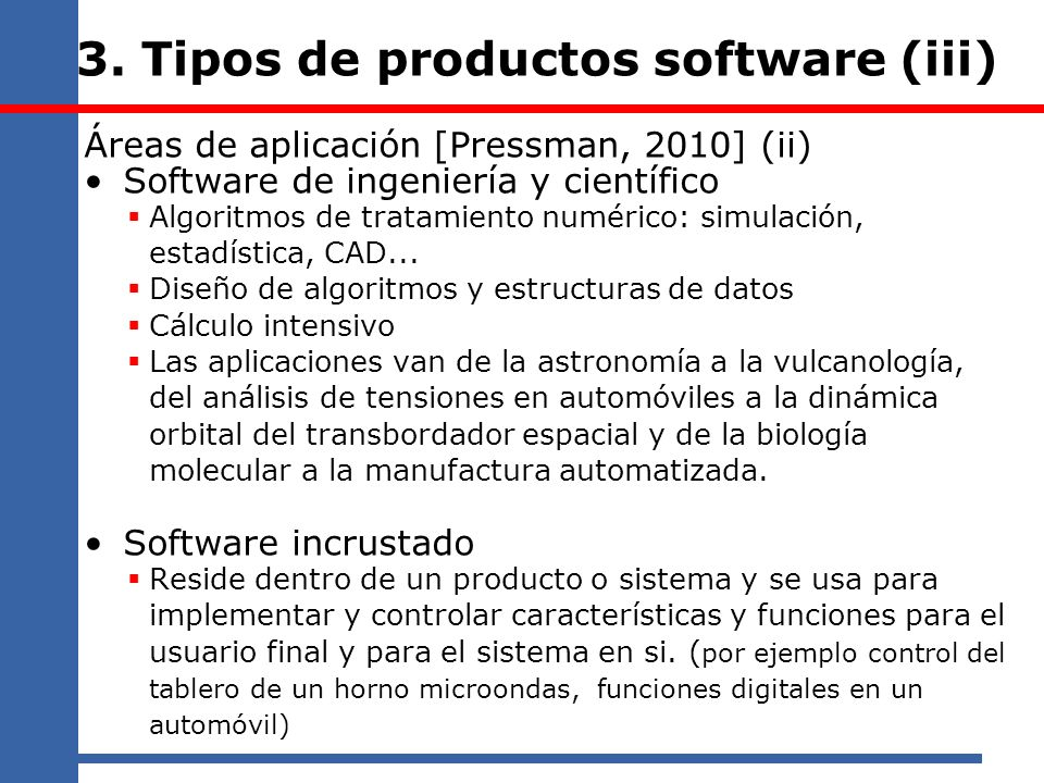 3. Tipos de productos software (iii)