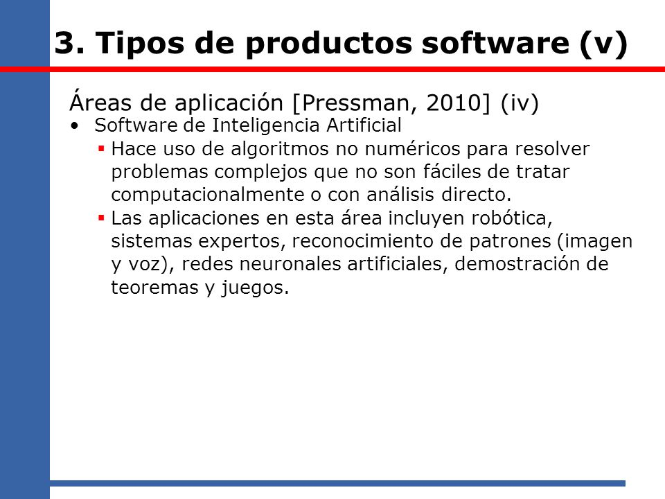 3. Tipos de productos software (v)