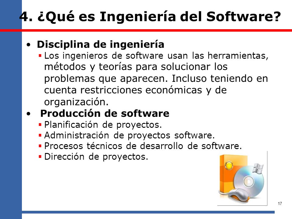 4. ¿Qué es Ingeniería del Software