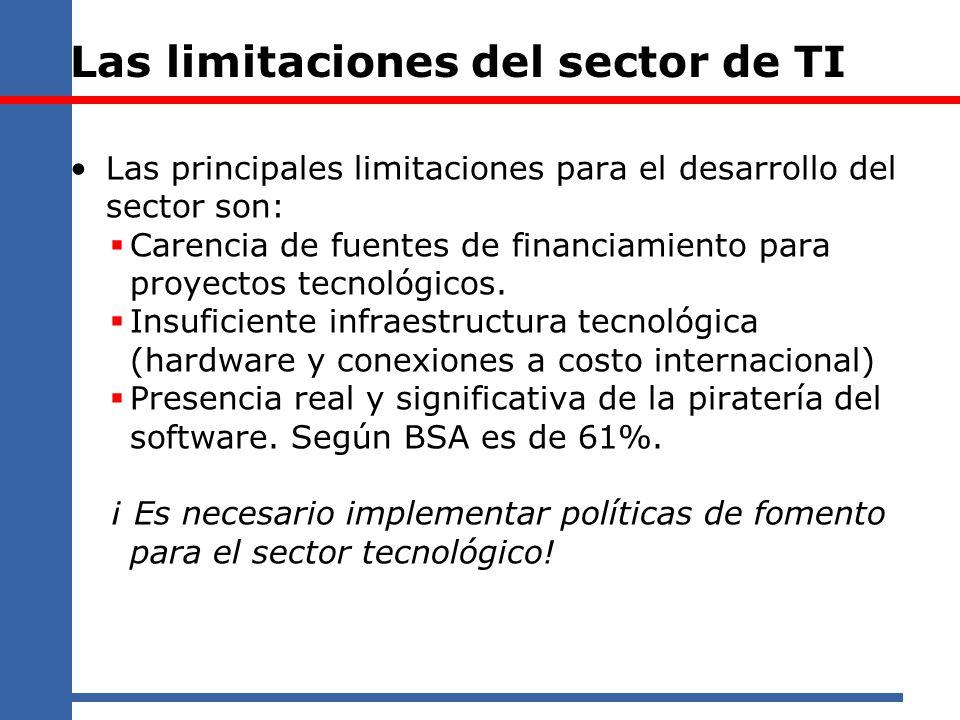 Las limitaciones del sector de TI