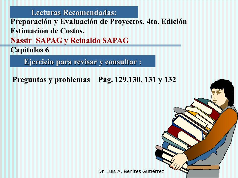 Lecturas Recomendadas: Ejercicio para revisar y consultar :