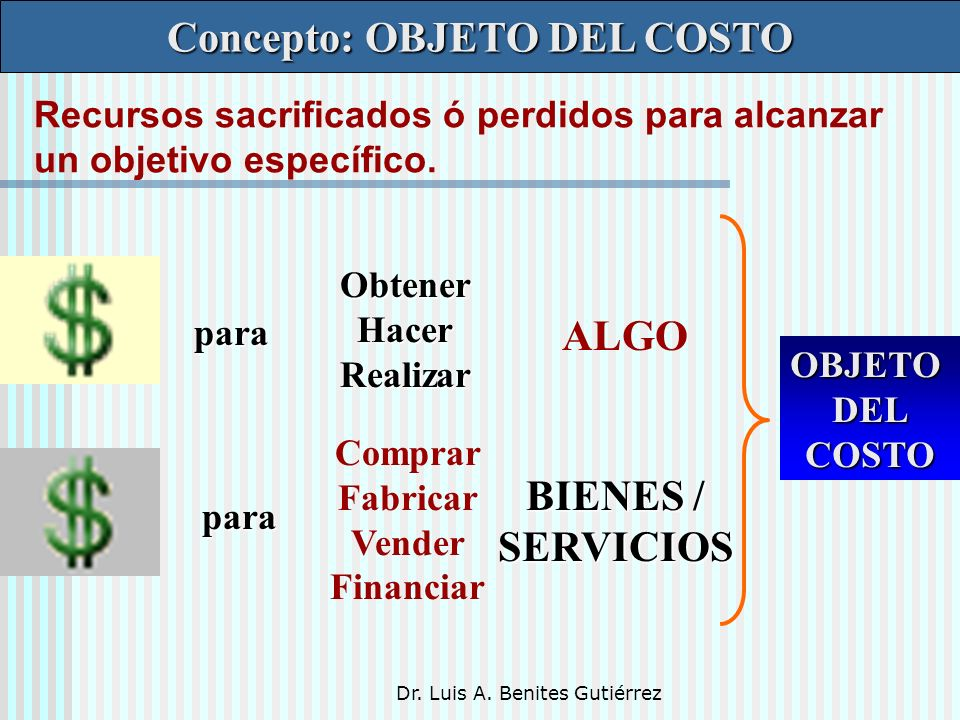 Concepto: OBJETO DEL COSTO