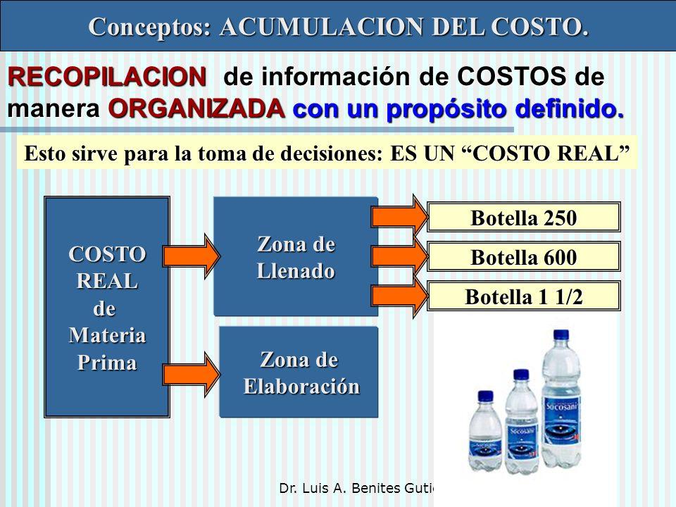 Conceptos: ACUMULACION DEL COSTO.