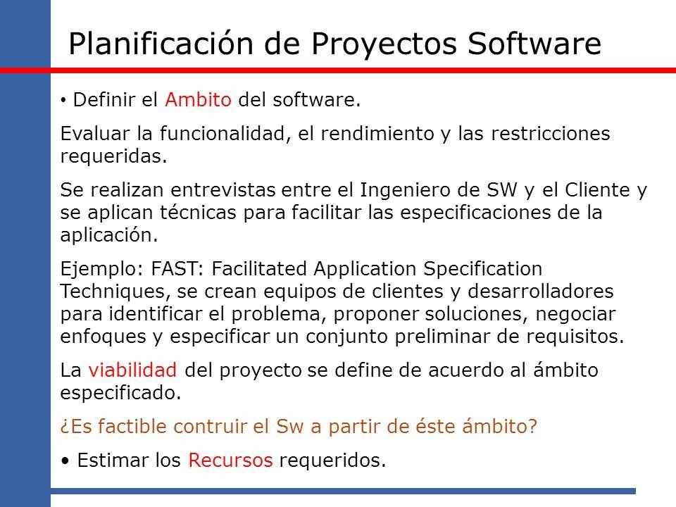 Planificación de Proyectos Software