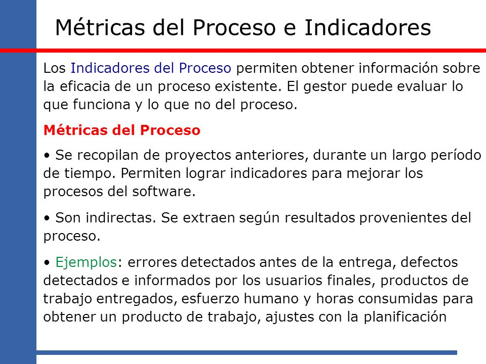 Métricas del Proceso e Indicadores