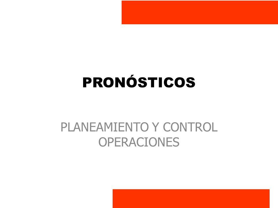 PLANEAMIENTO Y CONTROL OPERACIONES