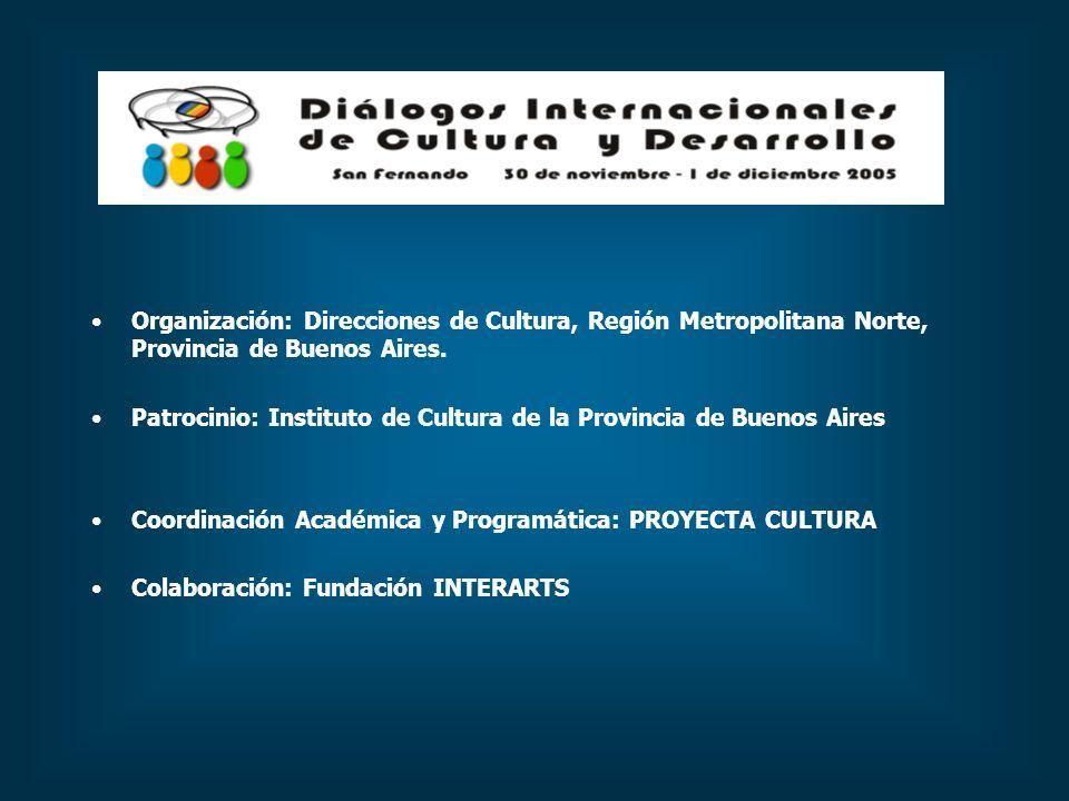 Organización: Direcciones de Cultura, Región Metropolitana Norte, Provincia de Buenos Aires.