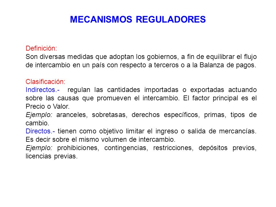 MECANISMOS REGULADORES