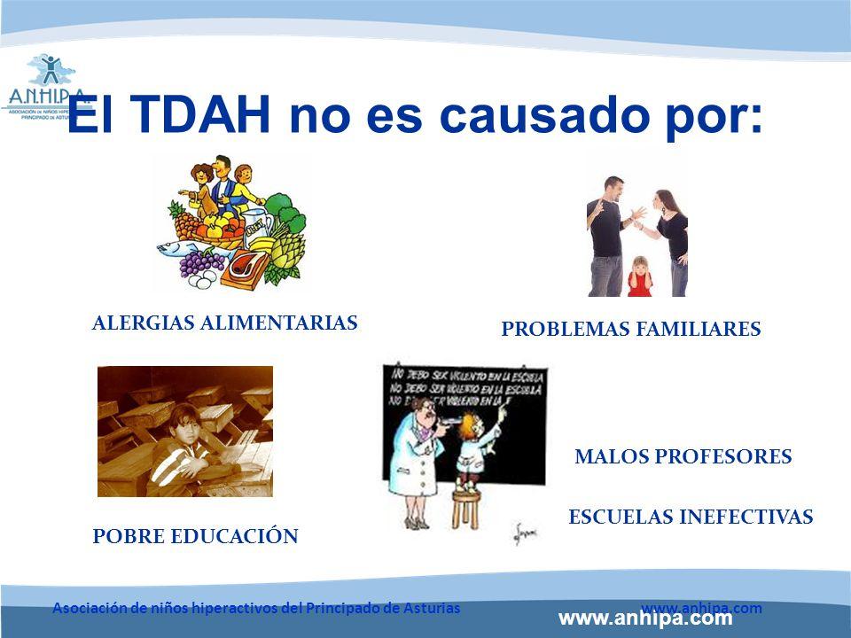 El TDAH no es causado por: