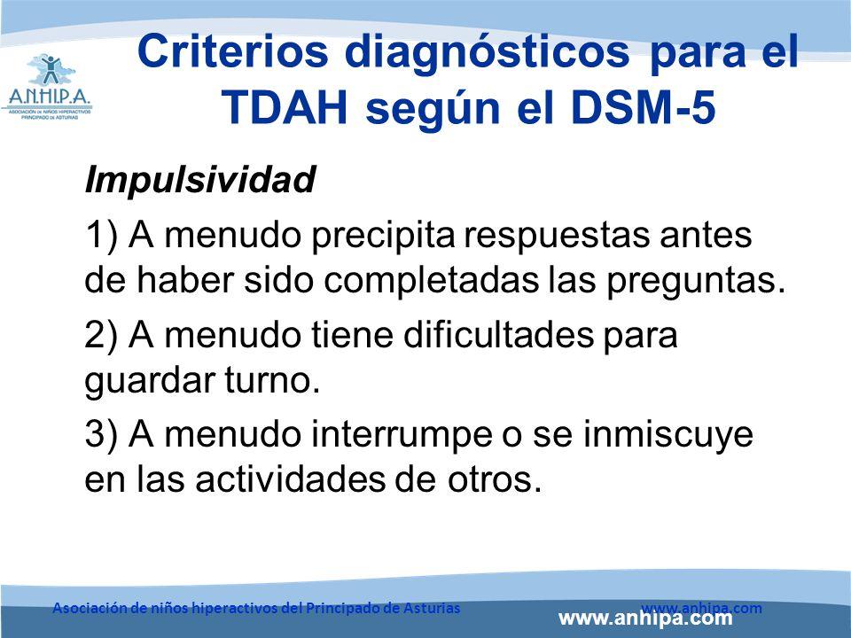 Criterios diagnósticos para el TDAH según el DSM-5