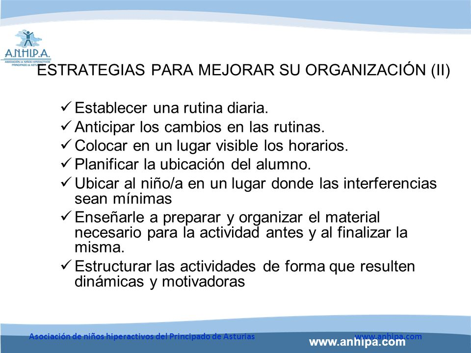 ESTRATEGIAS PARA MEJORAR SU ORGANIZACIÓN (II)