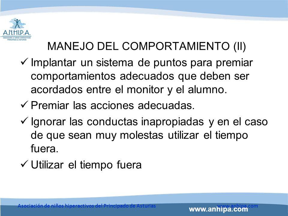 MANEJO DEL COMPORTAMIENTO (II)