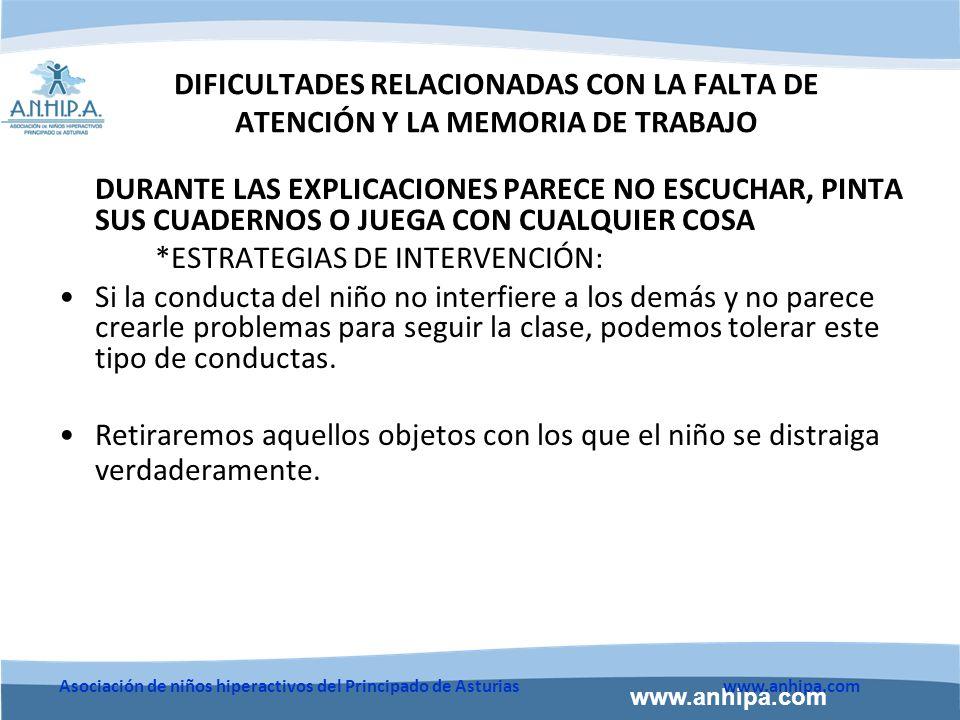 *ESTRATEGIAS DE INTERVENCIÓN:
