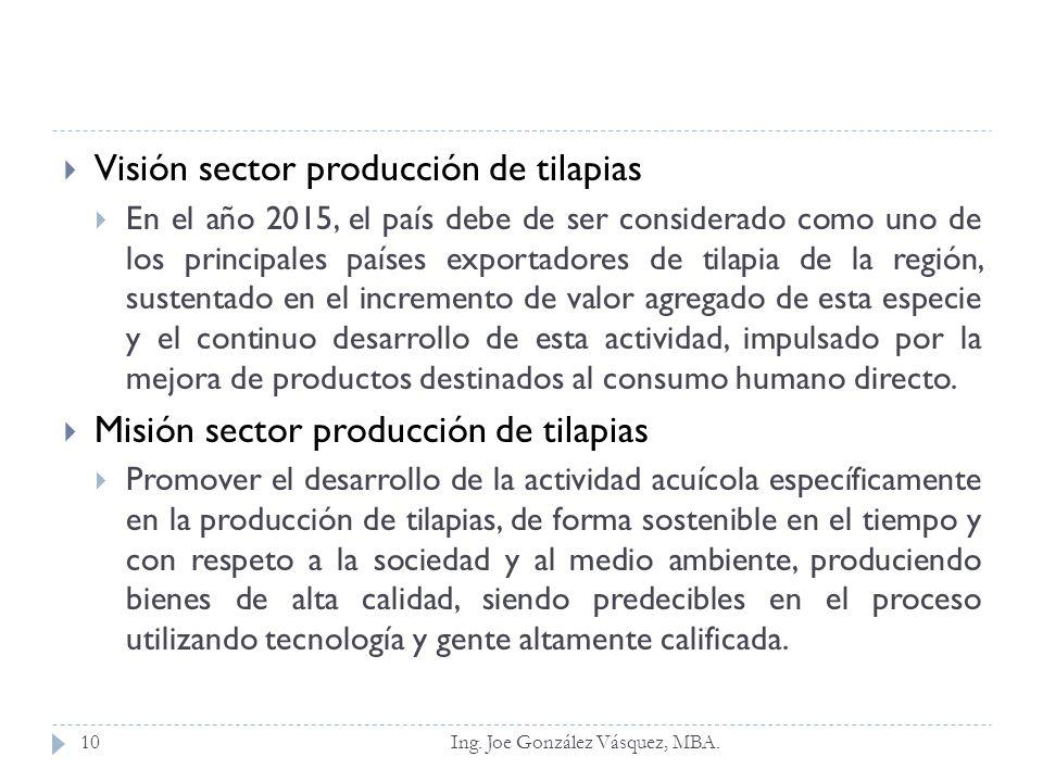 Visión sector producción de tilapias