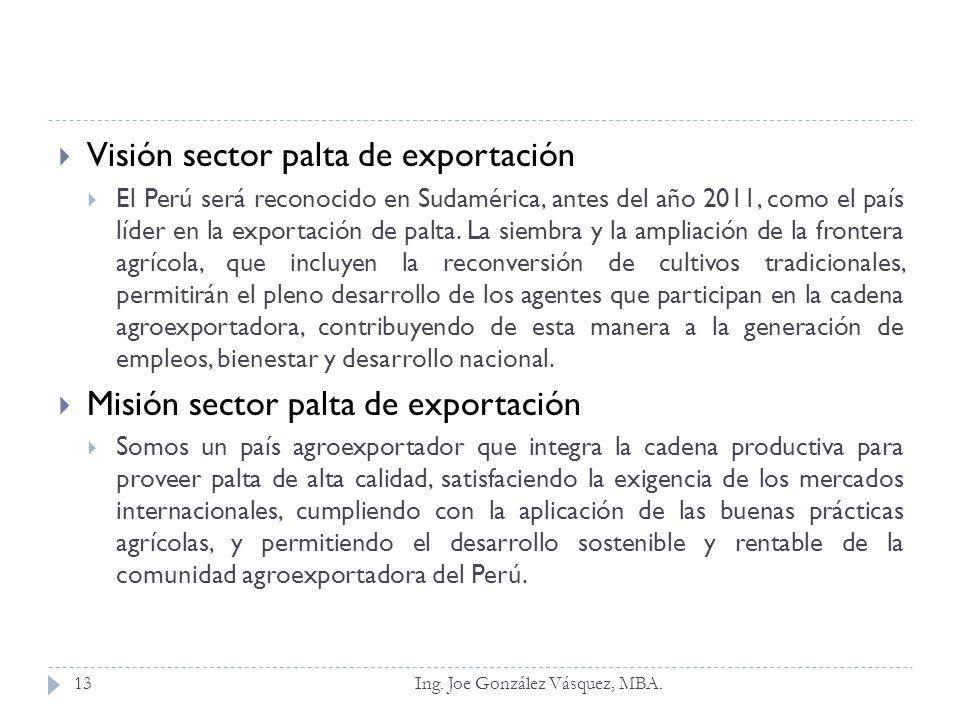 Visión sector palta de exportación