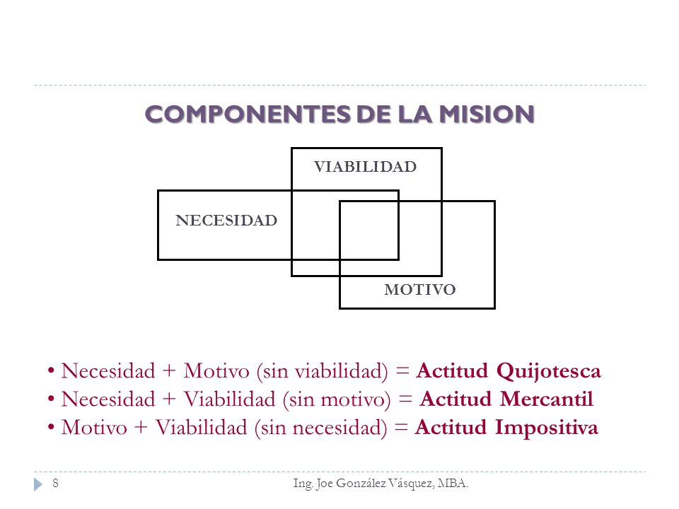 COMPONENTES DE LA MISION