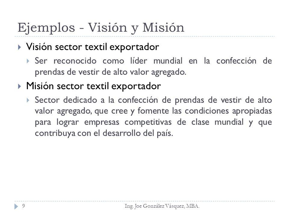 Ejemplos - Visión y Misión
