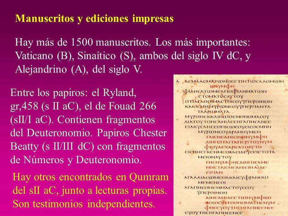 Manuscritos y ediciones impresas