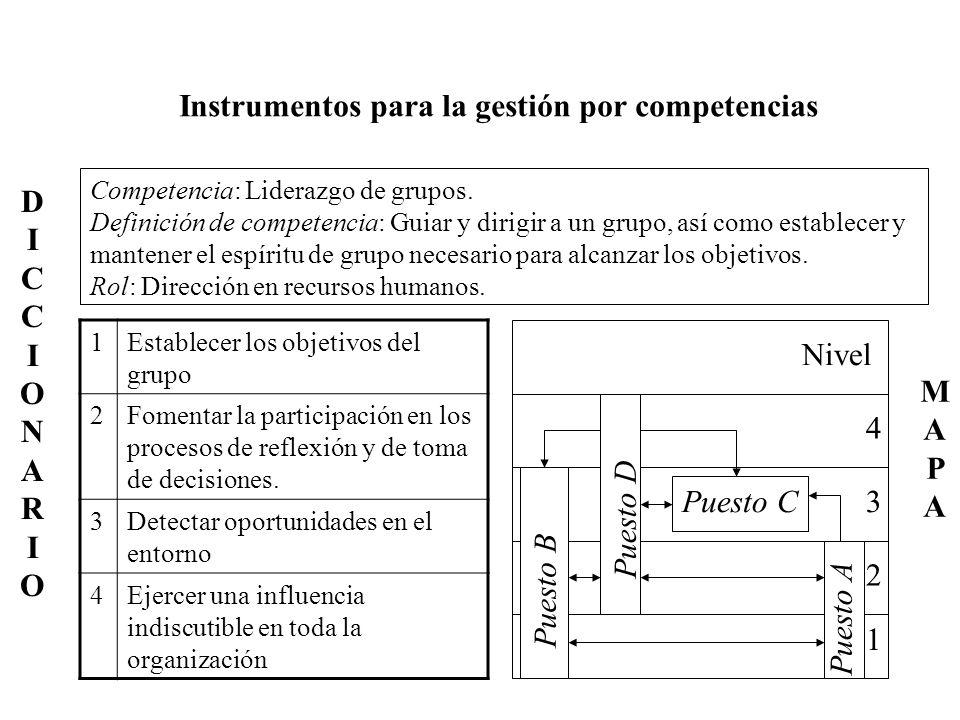 Instrumentos para la gestión por competencias