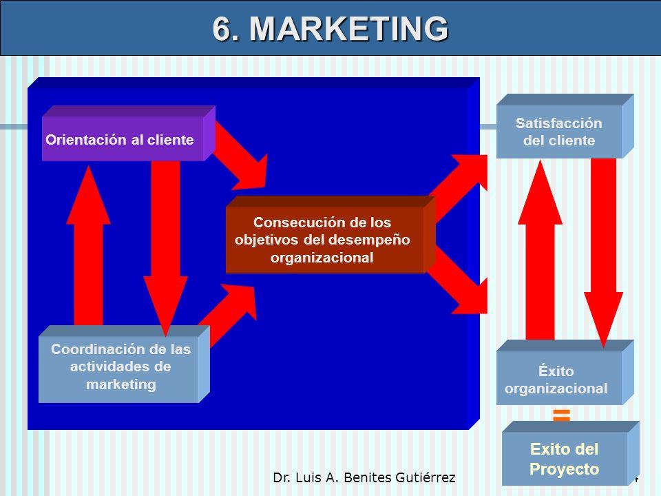 6. MARKETING = Exito del Proyecto Satisfacción del cliente
