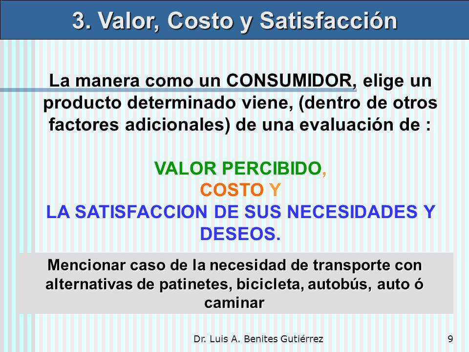 3. Valor, Costo y Satisfacción