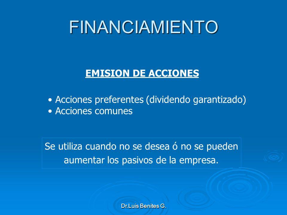 FINANCIAMIENTO EMISION DE ACCIONES