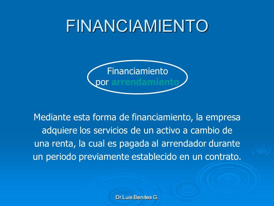 FINANCIAMIENTO Financiamiento por arrendamiento