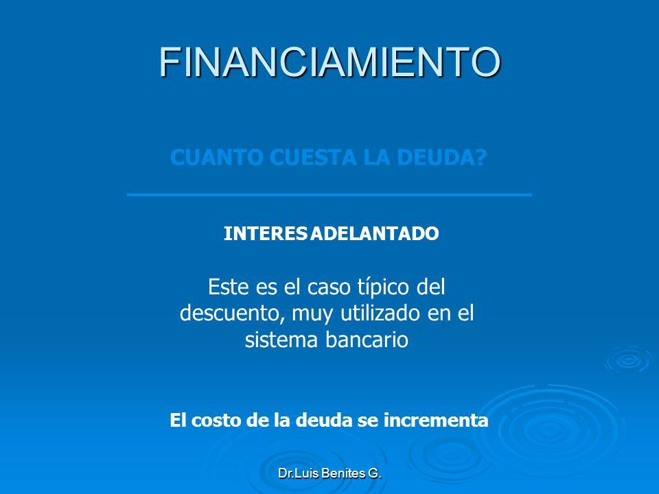 FINANCIAMIENTO CUANTO CUESTA LA DEUDA