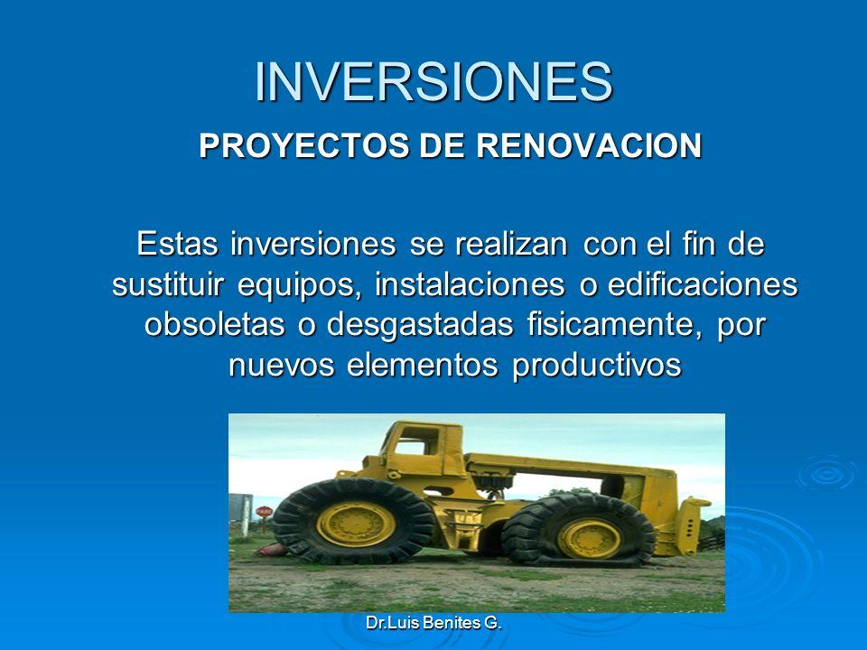 PROYECTOS DE RENOVACION