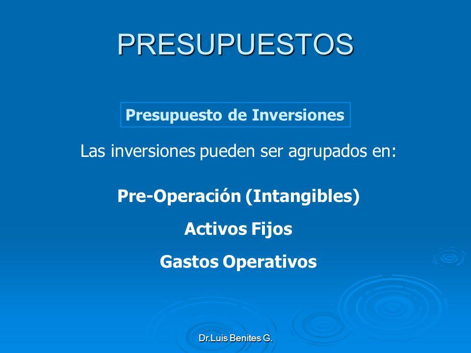 Pre-Operación (Intangibles)