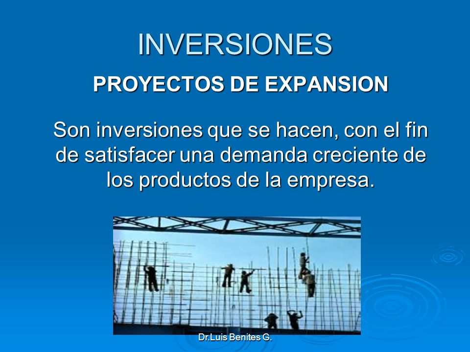PROYECTOS DE EXPANSION