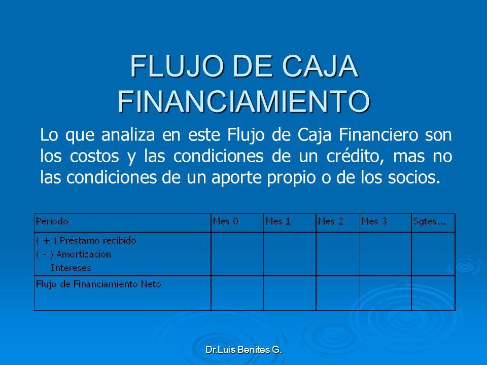 FLUJO DE CAJA FINANCIAMIENTO