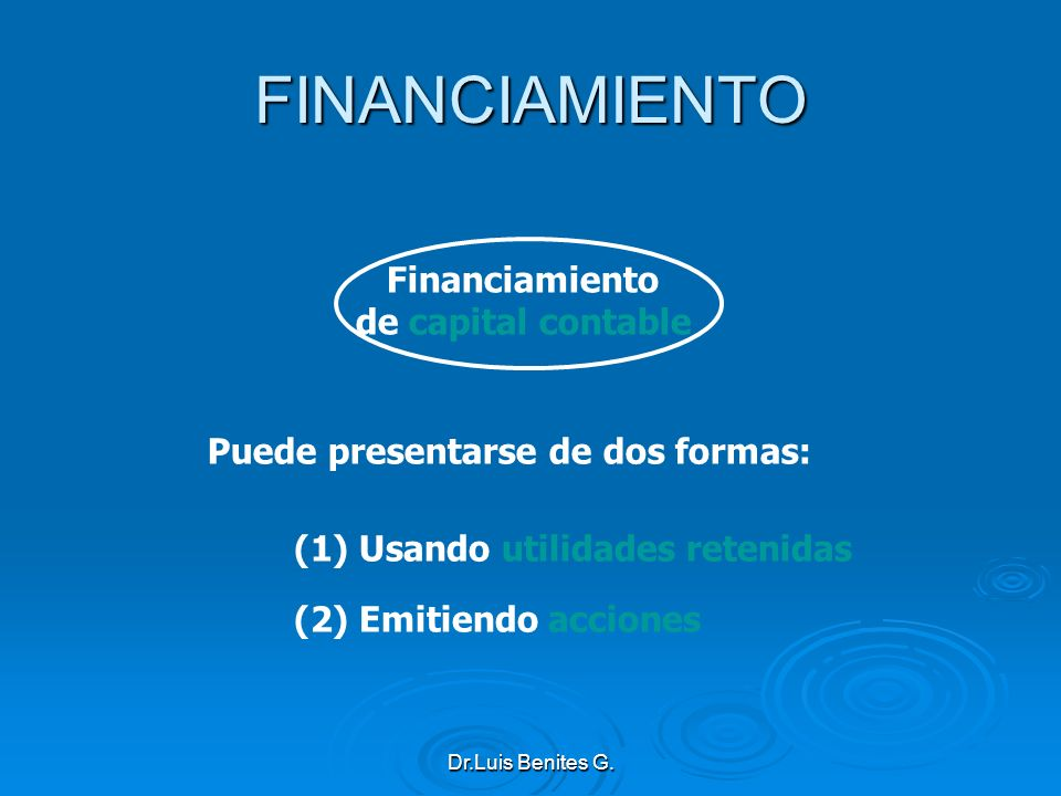 FINANCIAMIENTO Financiamiento de capital contable