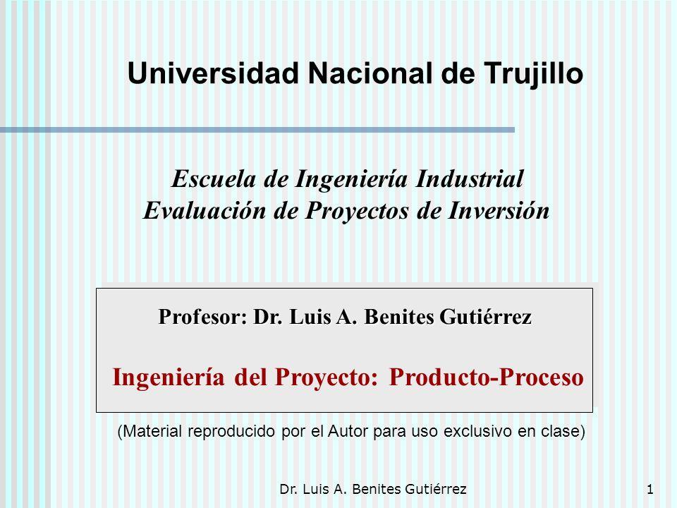 Ingeniería del Proyecto: Producto-Proceso