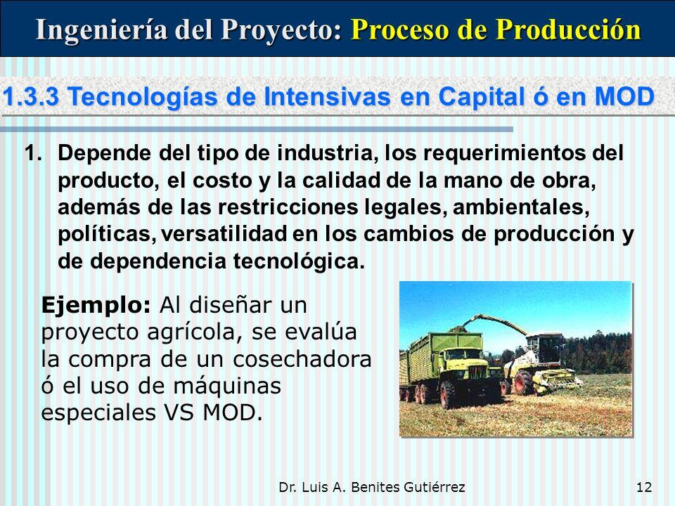 Ingeniería del Proyecto: Proceso de Producción