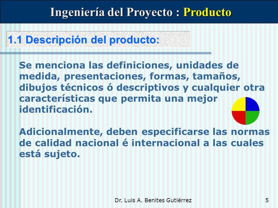 Ingeniería del Proyecto : Producto