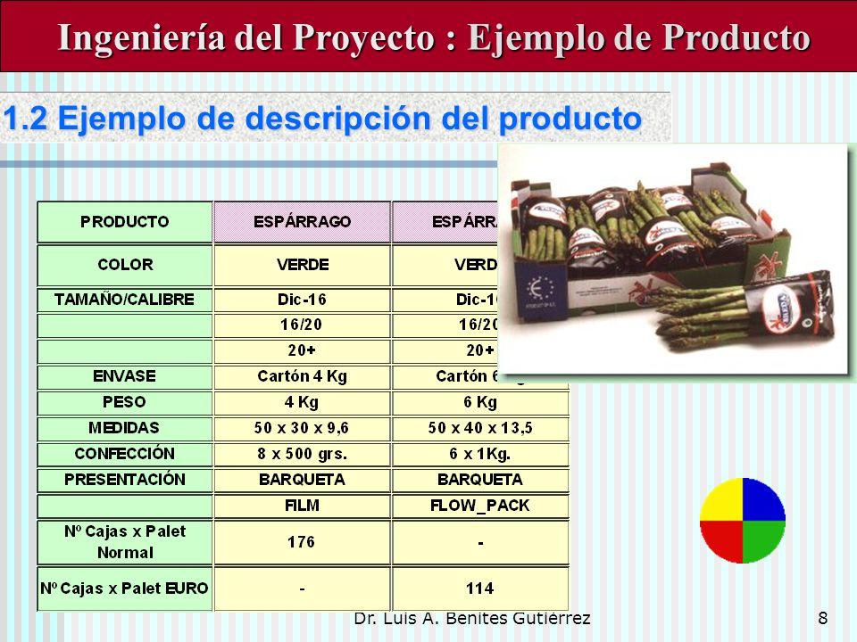 Ingeniería del Proyecto : Ejemplo de Producto