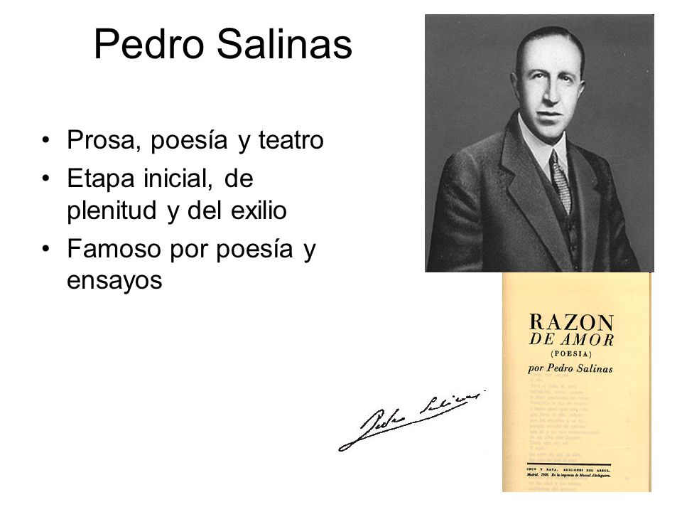 Pedro Salinas Prosa, poesía y teatro