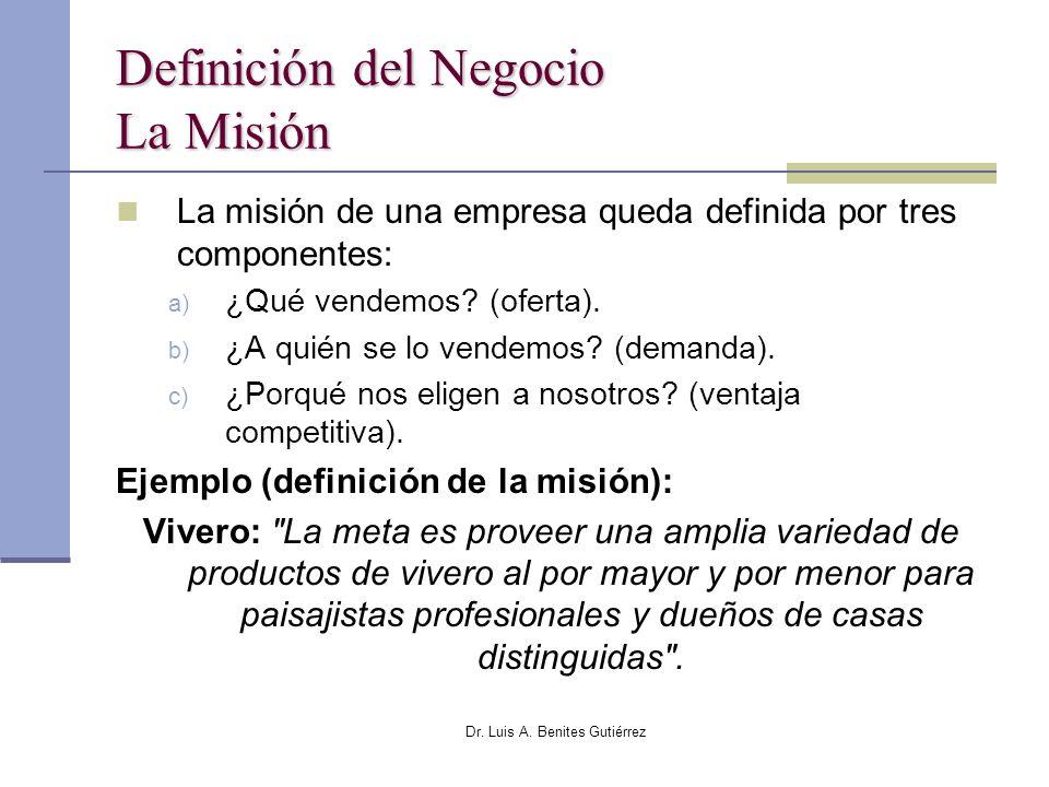 Definición del Negocio La Misión