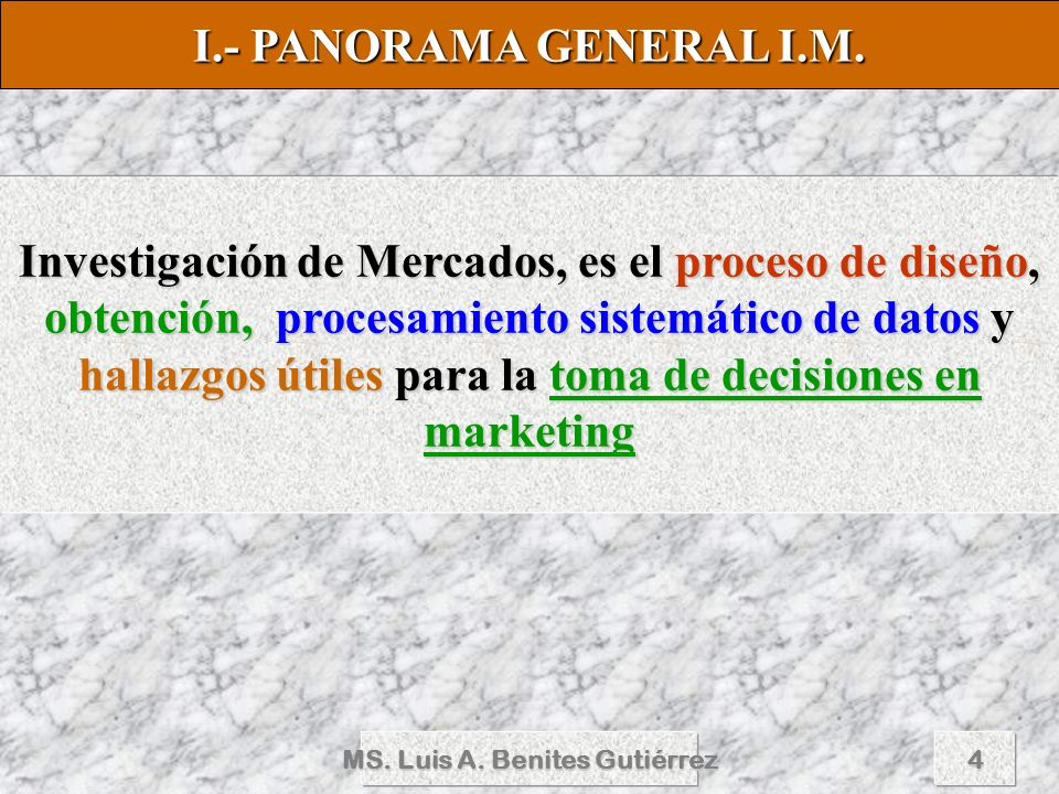 MS. Luis A. Benites Gutiérrez