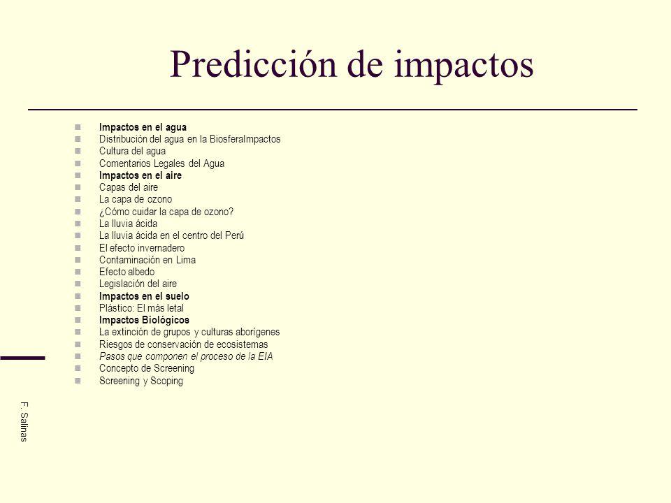 Predicción de impactos