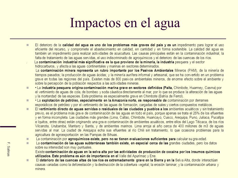 Impactos en el agua